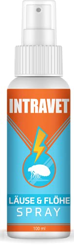 Saint Nutrition® Intravet - Anti Läuse & Flöhe Spray - das Abwehr Spray auf Natürliche Weise für Haustiere, Milben + Flohmittel für Katze und Hund für Innen - DIE natürliche Abwehr, 100ml