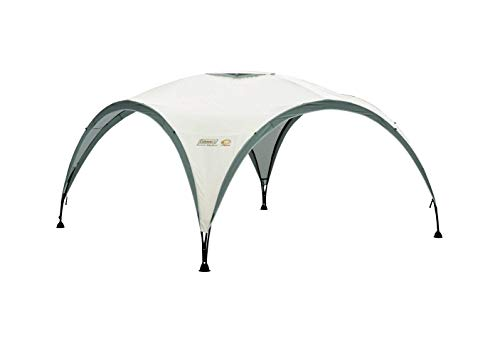 Coleman Gazebo, Event Shelter for Garden and Camping, Sturdy Steel Poles Construction, Large Tent, Portable Sun Shelter with Protection SPF 50, White/Green, XL - 4.5 x 4.5 m