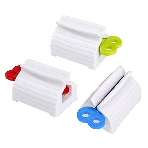 MengH-SHOP Zahnpasta Quetscher Tubenquetscher Tubenausdrücker Ständer Drehen Zahnpastaspender für Zahnpasta Kosmetik 3 Stück