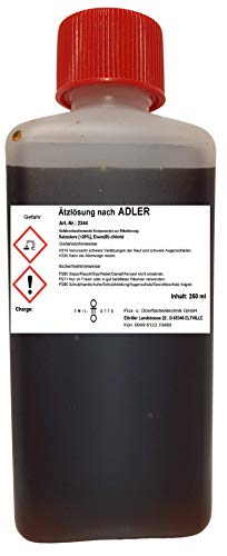 Ätzlösung nach Adler/Ätzmittel nach Adler von Emil Otto, 250 ml in kindersicherer Flasche, zur Sichtbarmachung von Grobkorn und zur Prüfung von Schweißnähten