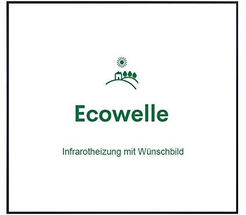 Ecowelle Eigenes Bild & Foto Infrarot Heizung mit Herstellergarantie - Made in Germany - Infrarotheizung mit Wünschbild (350 Watt, Schwarze Alurahmen)