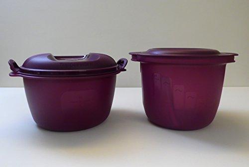 TW TUPPERWARE Mikrowelle Reis-Meister 3,0 L lila großer Reiskocher + Pastameister Nudelkocher
