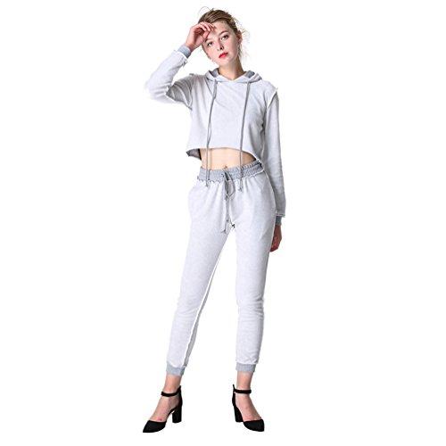 WanYang Mujeres 2 Piece Mujer Ropa Fitness Sudaderas Pantalon Camisetas