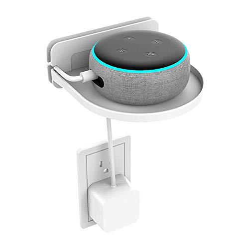 Volwco Outlet, Amazon Echo Dot Holder da parete con organizer per cavi, per bagno e camera...