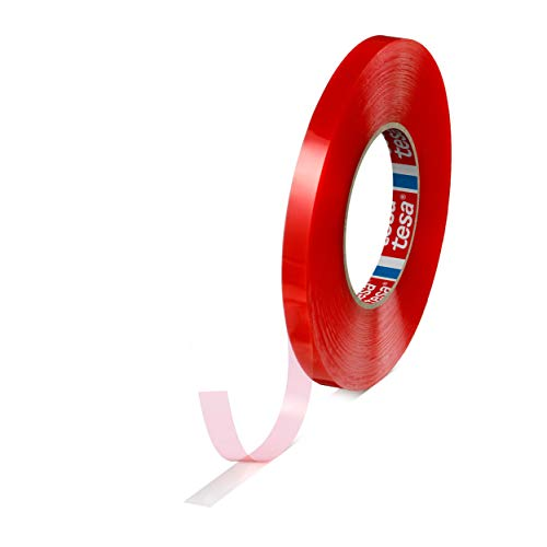 Cinta adhesiva de doble cara transparente TESA de 6 mm x 50 M Con alta resistencia a la temperatura y exterior