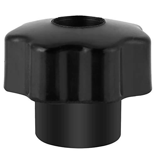 Sternknopf, M6 * 25 runde Form Universal schwarzer Kunststoffknopfgriff, Knopfgriff für Werkzeugmaschine (10er Pack)