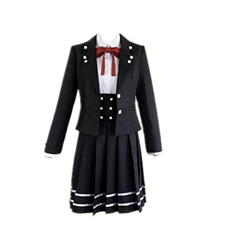 COSPARKY Anime Danganronpa V3 Shirogane Tsumugi Cosplay Halloween Kostüm Schuluniform für Frauen Full Set