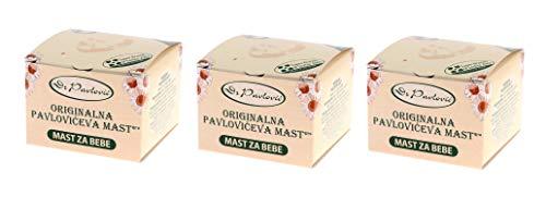 3 x Original Dr. Pavlovic Salbe - Baby-Hautpflege-Salbe mit Kamille aus Serbien (3 x 100 ml)