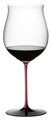 Riedel Sommeliers Black Series Burgundy Grand Cru Glass, Red/Black