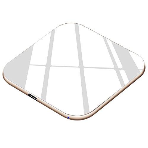 Handy Schnellladegerät Kabellos 15W, USB C, Fast Wireless Qi Ladestation 7,5W für iPhone X, XS, XS Max, XR, 8, Induktive Schnellaufladen Drahtlos 10W für Samsung S10 S10+ S9 S9+ S8 S7 und Note 9 usw