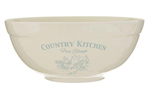 Premier Housewares Country Kitchen Mixing Bowl, 23 cm – Cream