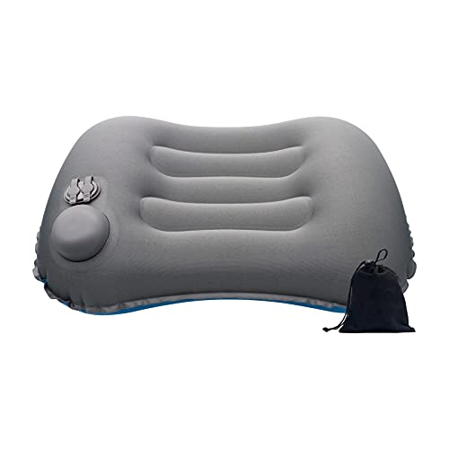 Cuscino da viaggio (cuscino spiaggia,cuscino cervicale da viaggio,cuscino gonfiabile campeggio- 3 in1 )-cuscino gonfiabile (supporto collo)-Cuscino campeggio (3s sgonfiaggio, ultraleggero)
