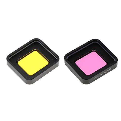 Gazechimp Quadratisches Kamera Tauchobjektiv Filterkit, Gelbfilter + Lila Filter,