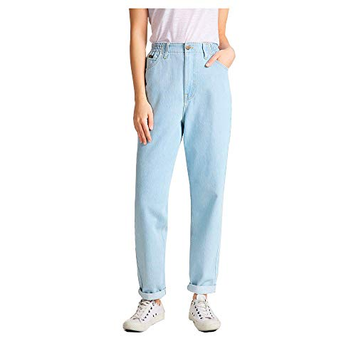 Lee Womens Elasticated Mom Jeans, Bleached Ore, 28/33