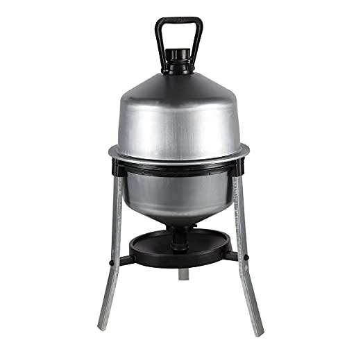 horizont Geflügeltränke 21l automatisch, aus verzinktem Stahl, ideale Hühnertränke, Wasserspender für Hühner, Wachteln, Enten, Geflügel