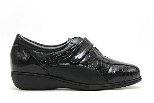 Zapato Mujer Especial Plantillas Piel y Charol Doctor Cutillas en Negro Talla...