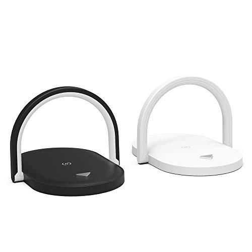 Aubess Cargador inalámbrico 3 en 1 de 15 W, estación de carga inalámbrica rápida (función de lámpara de mesa/soporte), cargador de batería para iPhone, Samsung, Android, iOS