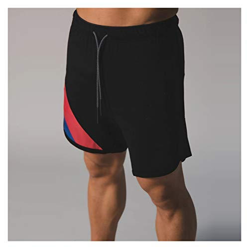 Hgkl Pantalon corto hombre deporte Pantalones cortos de jogging Gimnasio para hombre Gimnasio Deportes Pantalones cortos para hombres Malla transpirable Malla Culturismo Entrenamiento Deportes Pantalo