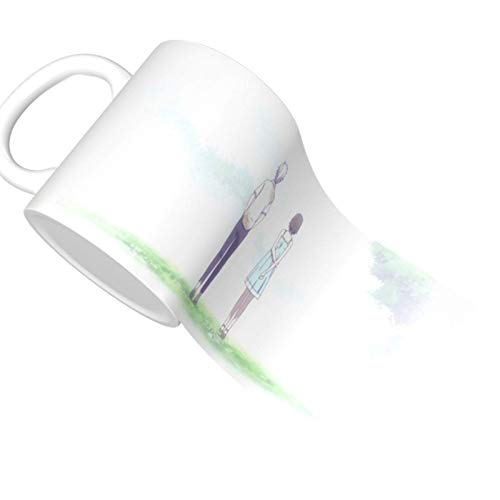 Hotarubi No Mori E 19 Taza de café de cerámica única novedad taza de té de café en casa oficina para amantes del anime Festival regalo de cumpleaños