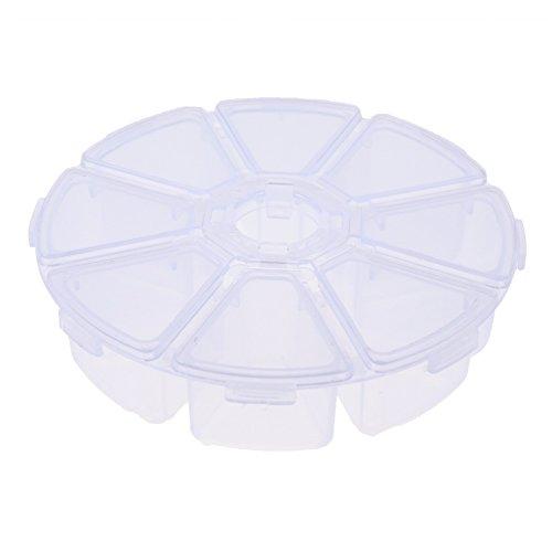 Cinq Saisons 8 compartiments en plastique rond Boîte de rangement Boîtes