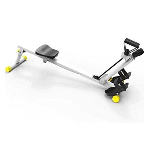 CCDV Rowing Machine, Air Resistance, Machine Water Rowing Exercise Workout Rower Folds for Easy Storage and can Be Moved with Built in Wheels