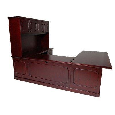 Brunswick U-Shape Executive Desk with File Drawer Orientation: Right