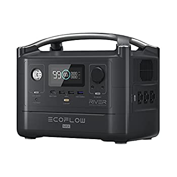 EF ECOFLOW RIVER Max Portable Power Station 576Wh Backup Lithium Battery with 3 x 600W  Peak 1200W  AC Outlets & LED Flashlight Clean & Silent Solar Generator for Outdoor Camping RV