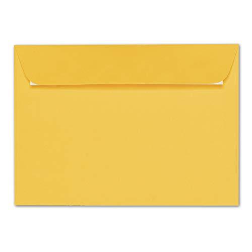 ARTOZ 25x Briefumschläge DIN C5 Gelb (Sonnengelb) - 229 x 162 mm Kuvert ohne Fenster - Umschläge selbstklebend haftklebend - Serie Artoz 1001