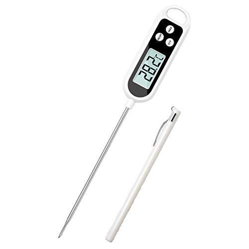 CFCF Küchenthermometer Digital Fleischthermometer, Instant Read Grillthermometer Mit Edelstahlsonden, Zum Kochen Von Lebensmittel Und BBQ, 25.3Cm