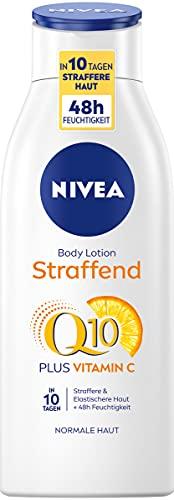 NIVEA Q10 Hautstraffende Body Lotion + Vitamin C für straffere Haut und verbesserte Elastizität in 10 Tagen, 400ml