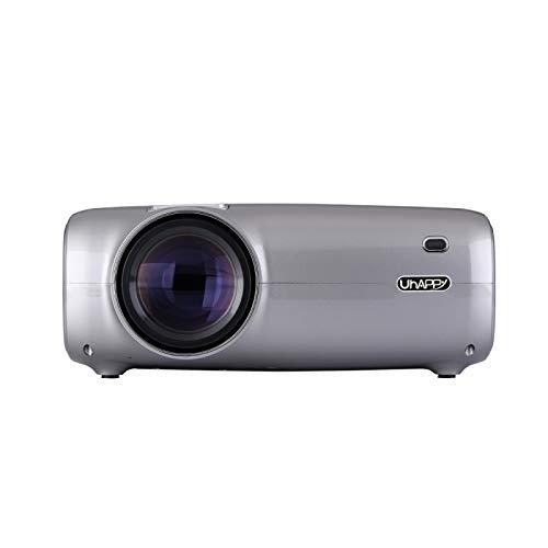 MmanuuFfacturer Sjibol U43 Pantalla LCD de 4,3 Pulgadas de sincronización móvil de Pantalla 1080P HD Mini proyector con Control Remoto, compatibilidad con USB/SD/HDMI/VGA/AV