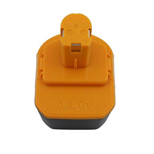 Kinon Batería de repuesto para herramientas eléctricas 12V 3.0Ah Ni-Mh para destornillador taladro inalámbrico Ryobi B-1230H B-1222H B-1220F2 B-1203F2 1400652 1400652B 1400670