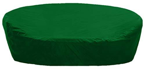 KaufPirat Premium Abdeckplane Sonneninsel Rund Ø 210x85 cm Tannengrün Gartenmöbel Gartentisch Abdeckung Schutzhülle Abdeckhaube Outdoor Round Patio Table Cover