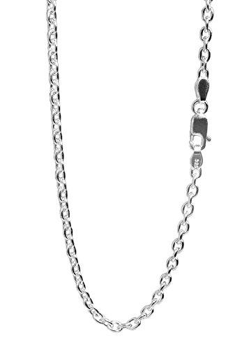 新宿銀の蔵 あずきチェーン 長さ40~90cm (50cm) 幅2.8mm シルバー 925 ネックレス チェーン ネックレスチェーン メンズ sv925