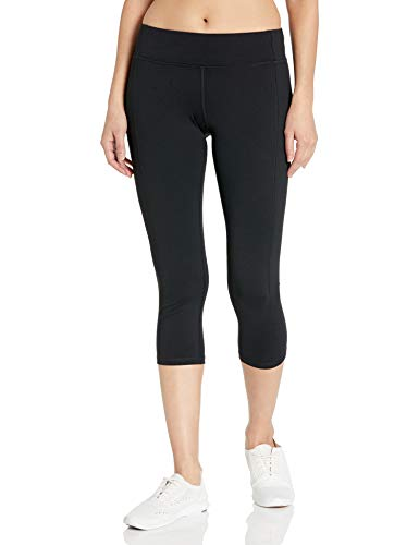 Hanes Women's Sport Performance Capri Legging, Ebony, Medium