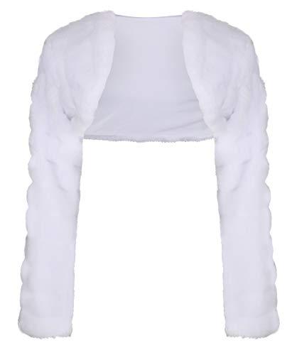 Nina Brautmoden Kommunionsjacke Bolero Jacke für die Kommunion - K-27 (134, weiß)