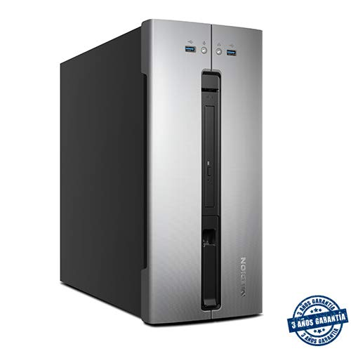 MEDION AKOYA M80 - Ordenador de sobremesa (Intel Core i5-9400, 8GB RAM, 1TB de HDD, Intel Graphics, Windows10), Color Gris