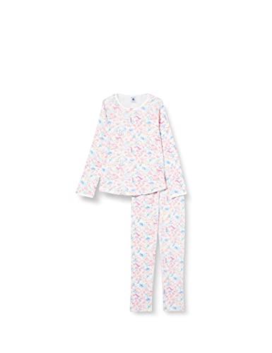 Petit Bateau 5985901 Pajama Set, Marshmallow/Multico, 3 Ans Girls