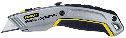 Stanley FatMax Messer 2in1 (einziehbare Klinge, in fünf Positionen fixierbar, InterLock, ergonomisches Design) 0-10-789