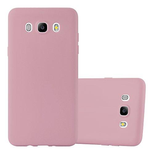 Cadorabo Custodia per Samsung Galaxy J7 2016 in CANDY ROSA - Morbida Cover Protettiva Sottile di Silicone TPU con Bordo Protezione - Ultra Slim Case Antiurto Gel Back Bumper Guscio