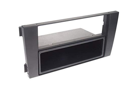 Support autoradio 1DIN compatible avec Audi A6 01-05 - Avec vide poche - Noir