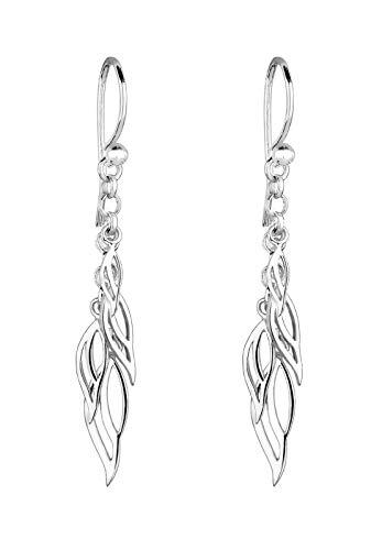 Elli Ohrringe Damen Ohrhänger Blätter Boho Festival in 925 Sterling Silber