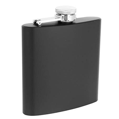 YKW Frasco de Cadera de Acero Inoxidable Flagón para Bebidas al Aire Libre Licor de Licor Whisky Alcohol Cap Embudo Botella de transmisión (Color : 8oz)