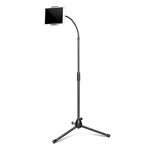Ajcwhml Adjustable Tripod Floor Stand Flexible Tablet Holder Bracket Music Rack Mount Support for Tablets for ipad Phone Holder JA2 Silver