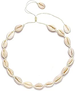 Yellow Chimes Women's Cowrie Sea Shell and Base Metal Handmade Beach Stylish Choker Necklace (White, YCFJNK-153SHELL-WH)