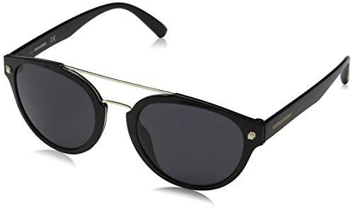 DSQUARED2 DQ0255 01A 52 Monturas de gafas, Negro (Negro LucidoFumo), 52.0 Unisex Adulto