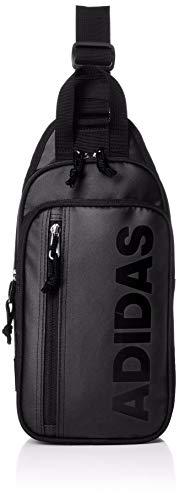 [アディダス] ボディバッグ MODEL.NO.61091 4L ユニセックス ワンショルダーバッグ ブラック×ブラック