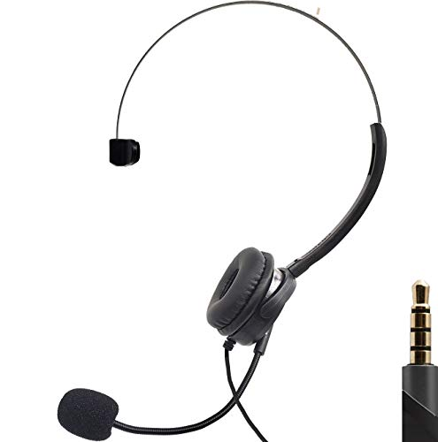 Gaming and Chatting Single Headset Over-Ear with Boom Microphone Foam Covered for PC Laptops Phones PS4 Xbox One/X Nintendo One Controllable Volume Light Weight 10ft Cable