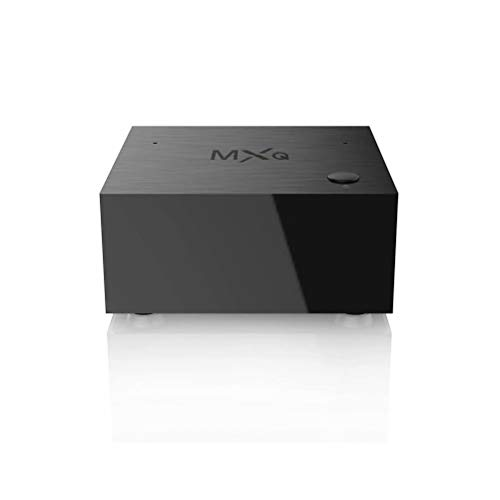 MXQ TV Cube Android 7.1 ATV TV Box with Build-in AI Speaker AI Assistant S905W Quard-core 2G+16G 4K up to 60fps T2R2 WiFi 2.4GHz/5GHz BT 4.2 Voice Control Smart TV Media Player for Home Entertainment