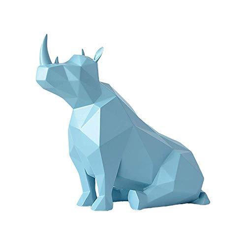 KKUUNXU Rinoceronte nórdico decoración Animal Tridimensional Simple y Moderna Sala de Estar Mueble de TV gabinete de Vino Ventana decoración del hogar decoración